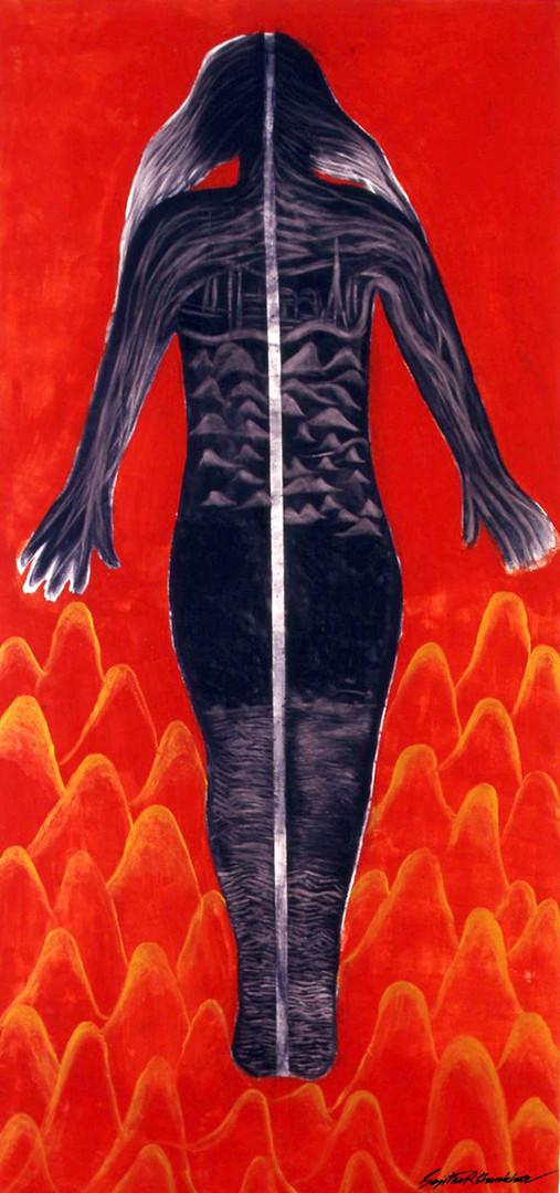 6. Sajitha R. Shankhar, Archetypes, 180 x 90 cm, 2006