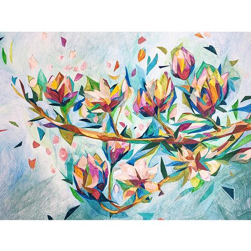 Weronika Piórek, Untitled 4, Crayons on paper, 50 x 65 cm, 2019