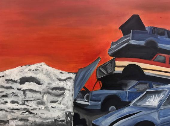"""Caitlin Flood-Molyneux, """"Solace"""", 61x 86 cm, 2019"""