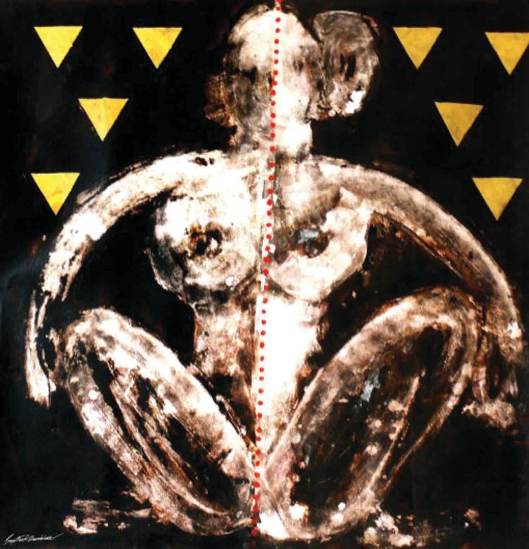 10. Sajitha R. Shankhar, Archetypes, 90 x 90 cm, 2006
