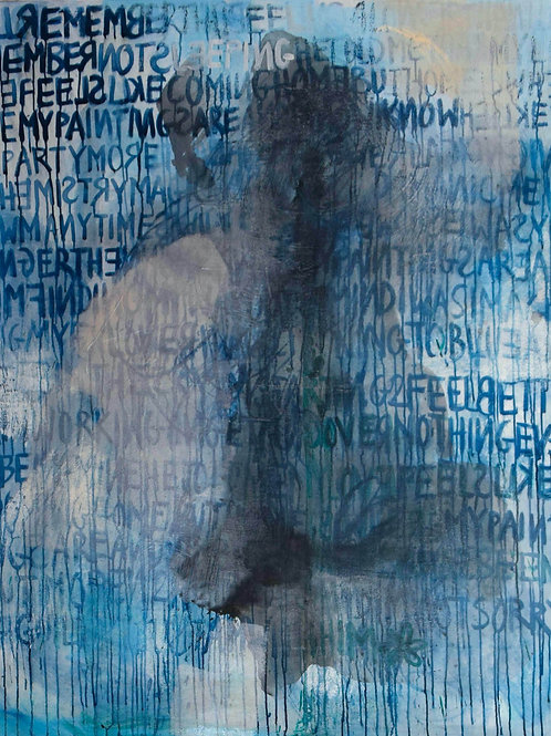 """ELAINE T. NGUYEN, HOMEISWHEREMYPAINTINGSR, 60""""x72"""", 2020"""