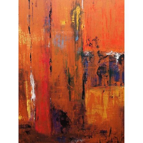 Neelum Nand, Revelations, 122 x 92 cm, Oil on Linen, 2019