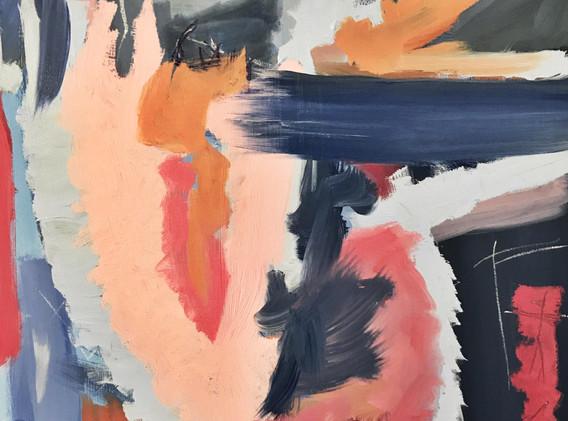 "Caitlin Flood-Molyneux, ""Melancholia"" - oil on wood, 61 x 86 cm, 2019"