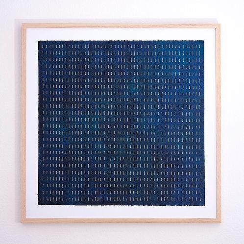 Stéphanie Poppe, Les Lucioles II, 83 x 83 cm, 2020