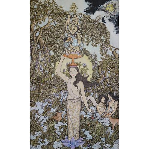 Satya Cipta, The Offering, 83 x 135 cm, 2017