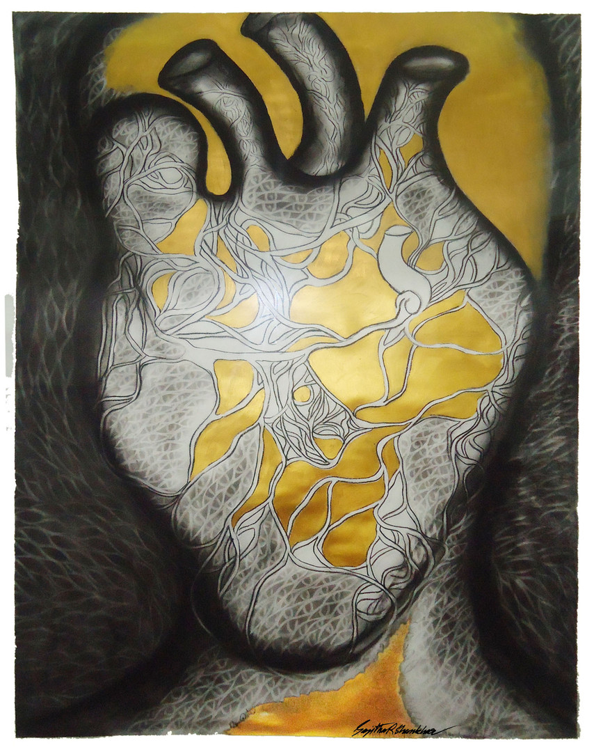 8. Sajitha R. Shankhar, Arlterbodies, 120 x 120 cm, 2010