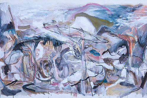 Rosie Lloyd-Giblette, Cloud Catcher, 86 x 200 cm, acrylic on canvas