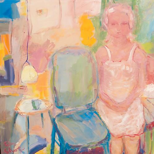 PETRA SCHOTT, Waiting, 100 x 100 cm, 2017