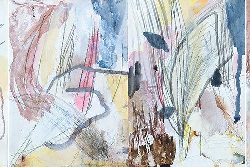 Rosie Lloyd-Giblette, Traveling North, 30 x 90cm