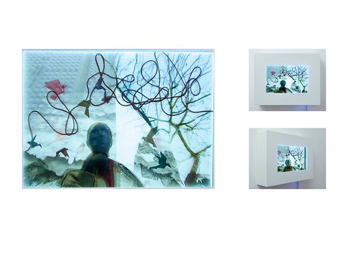 OXANA KOVALCHUK,Diary of memory(From Illusion OfRealitySeries, Glass Collage)