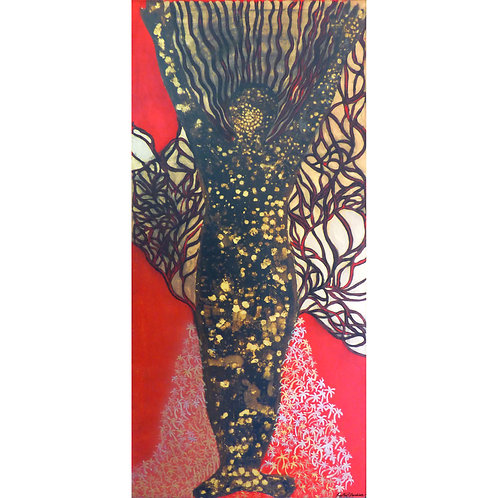 17. Sajitha R. Shankar, Archetypes, 182 x 91 cm, 2008
