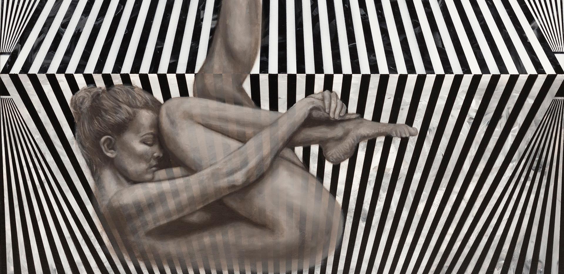 Jessica Feldman, Believe, oil on canvas, 80 x 80 cm, 2018