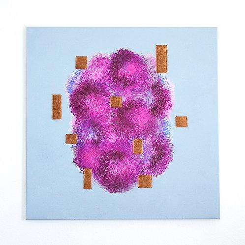 Stéphanie Poppe, Natures artificielles - Floraison, 80 x 80 cm, 2020