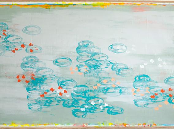 JUTTA OBERHUBER, Seeroses, 245 x 140 cm
