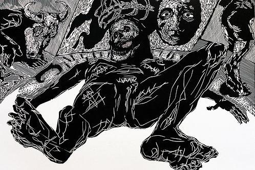 """MARCO TRENTIN, """"Drift of shame"""", 70 x 100 cm"""