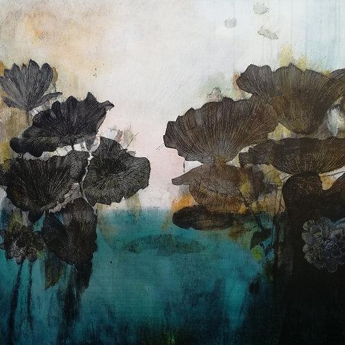 Louise Villa, Lily Pond, 80 x 100cm