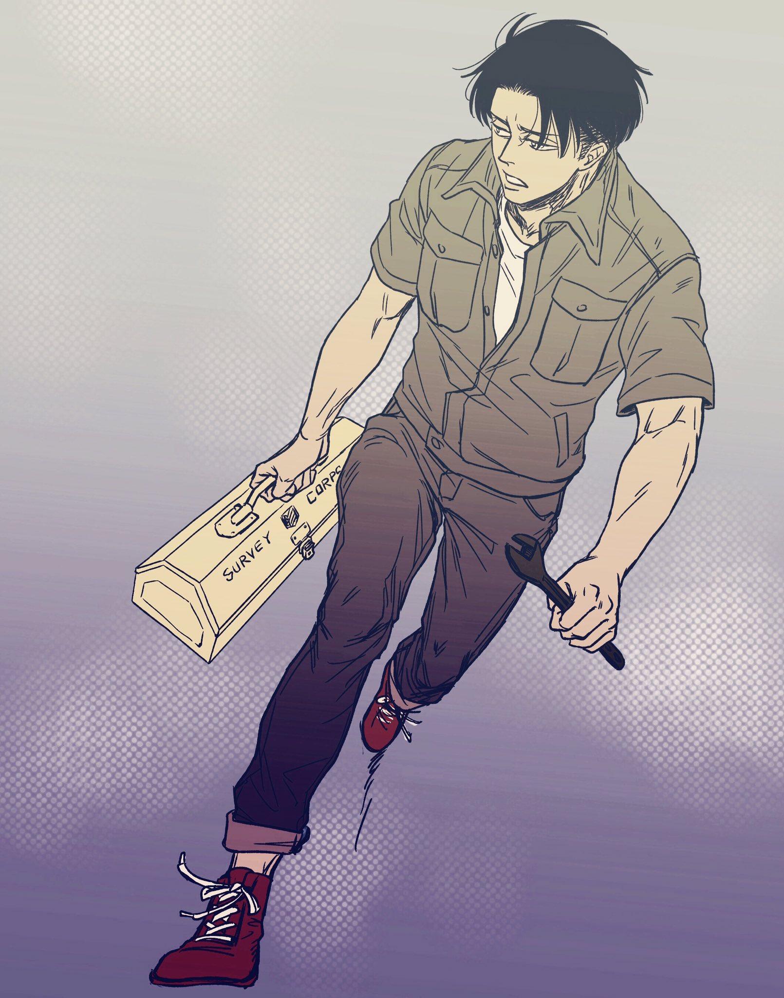 パッツン髪と工具箱