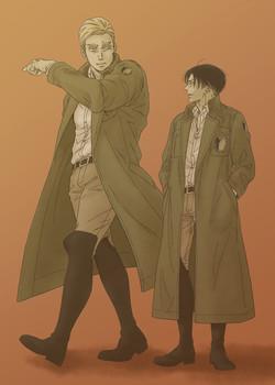 兵団コートがタイロッケンだったらいいな…っていうイラストです