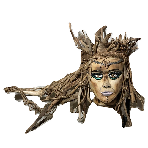 Driftwood Goddess Of The Sea - Full Sculpture