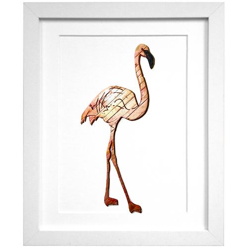Driftwood Flamingo Print