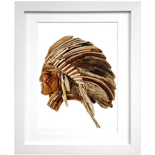 Driftwood Native American Print