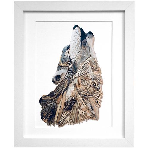 Driftwood Wolf Print