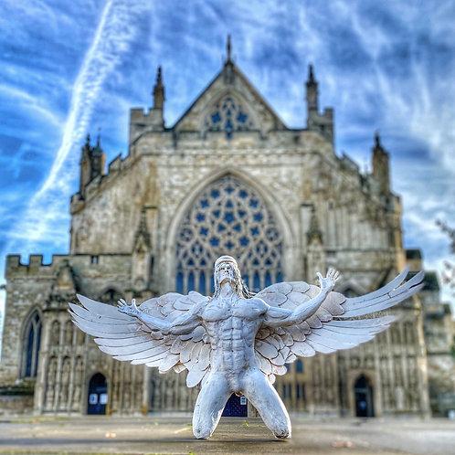 Believe - Angel Sculpture - Driftwood