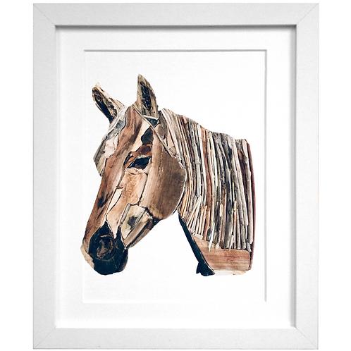 Driftwood Horse Print