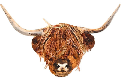 Large Highland Cow Driftwood Wall Art