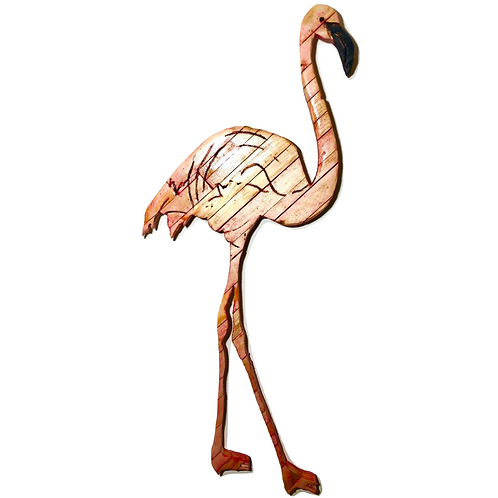 Reclaimed Wood Flamingo