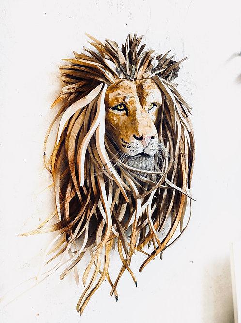 Lion Sculpture - Driftwood Wall Art