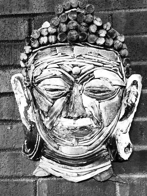 Driftwood Buddha Head