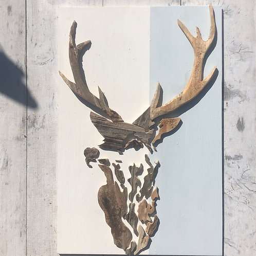 Stag Driftwood Wall Art