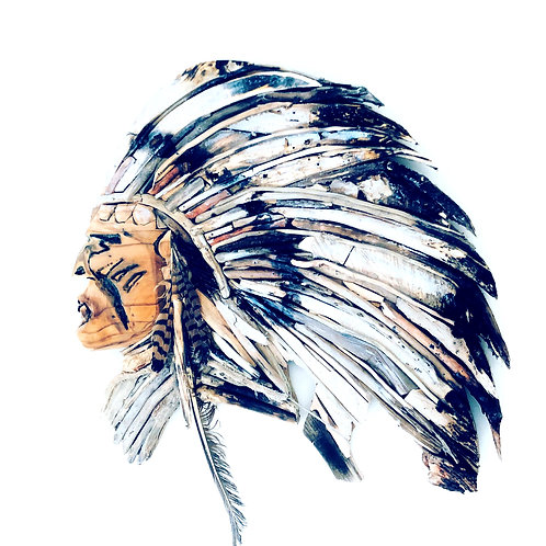 Driftwood Native American Chief
