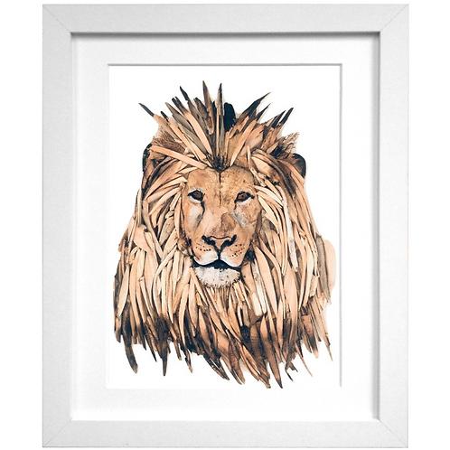 Driftwood Lion Print