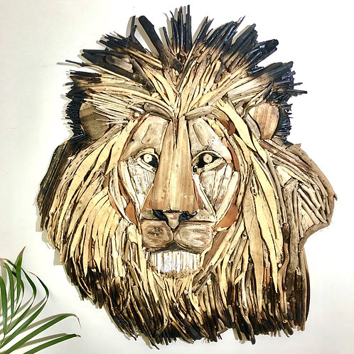 Breathtaking King Of The Jungle DriftwoodWall Hanging  [850mm - 850mm]