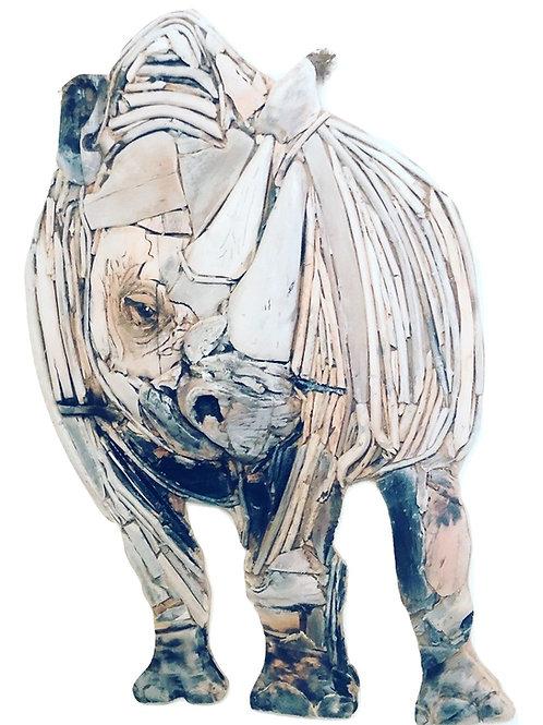 Large Driftwood Rhino