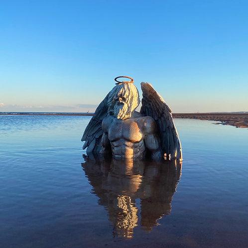 'Emergence' Oak Angel -  Bust - Beautiful Sculpture