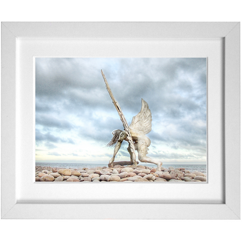 Angel Of The South On Budleigh Salterton Beach Print (side)