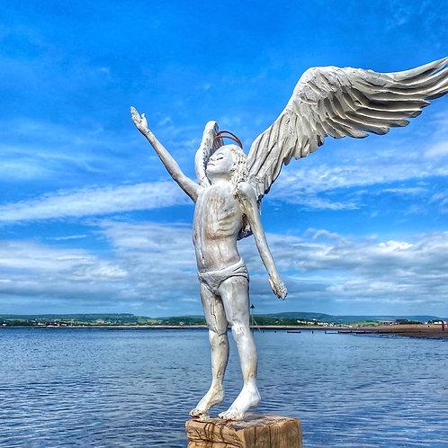 Faith. Driftwood Oak Angel Sculpture