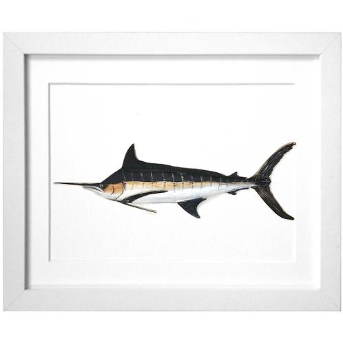 Driftwood Blue Marlin Print