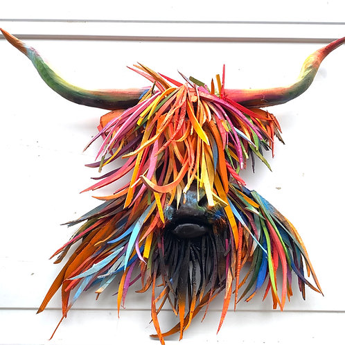 Driftwood Highland Cow In Colour