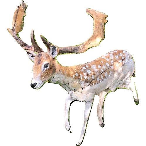 Driftwood Fallow Stag/Buck Sculpture
