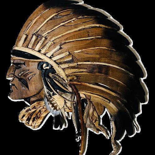 Driftwood Chief Sculpture