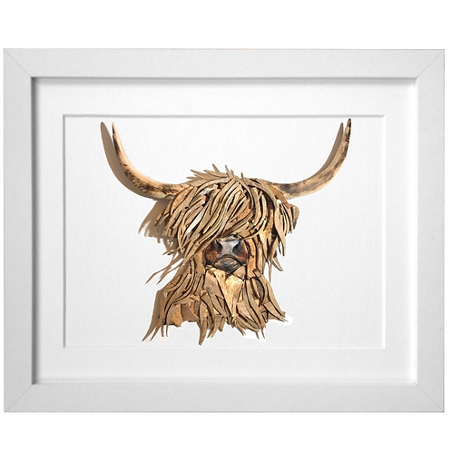Driftwood Highland Cattle Print