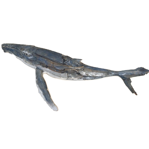 7ft Humpback whale in rustic driftwood