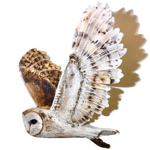 Stunning Driftwood Barn Owl