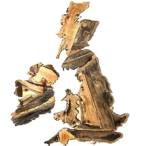 United Kingdom & Ireland Driftwood Wall Hanging