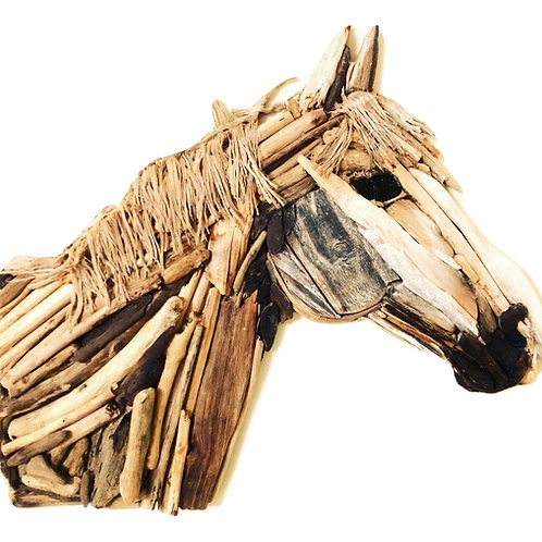 Stunning Driftwood Horse Wall Sculpture  [600mm - 600mm]