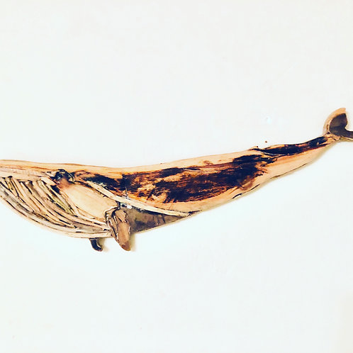Driftwood Blue Whale